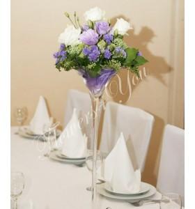 Aranjament floral nunta trandafiri limonium lisiantus
