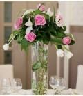 Aranjament floral nunta trandafiri orhidee lalele