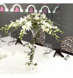 Aranjamente florale nunta dendrobium alb