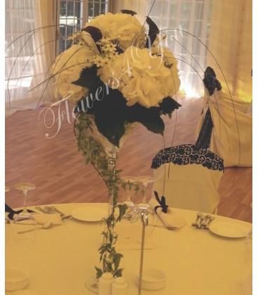 Aranjamente florale nunta hortensia cale ornitogalum