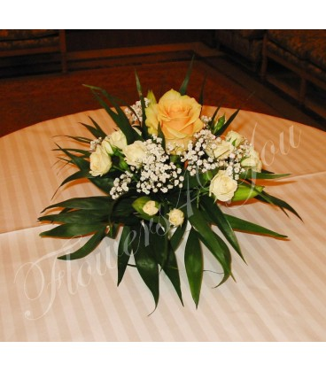 Aranjamente florale nunta trandafir miniroze