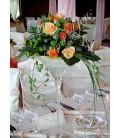 Aranjamente florale nunta trandafiri santini miniroze