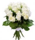 Buchet flori trandafiri albi