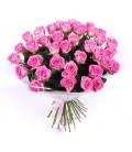 Buchet rotund trandafiri cyclam