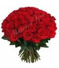 Buchet rotund trandafiri grena