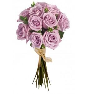 Buchet trandafiri mov salal