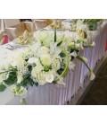Aranjament floral prezidiu lisiantus cale trandafiri