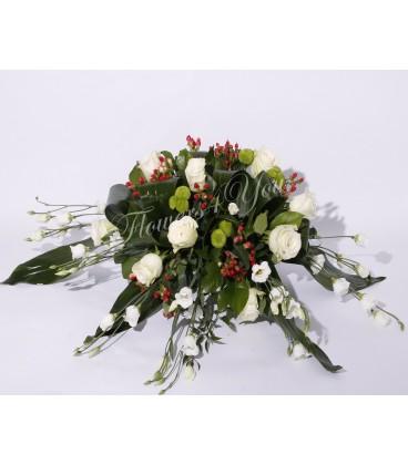 Aranjament prezidiu trandafiri lisiantus hipericum