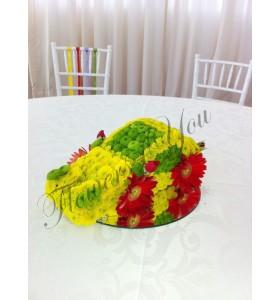 Aranjament floral botez masina