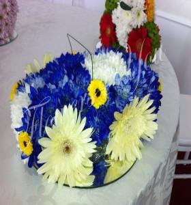 Aranjament floral botez masina mica