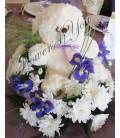 Aranjament floral botez ursulet