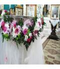 Cristelnita botez crizantema trandafiri santini