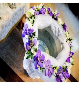 Cristelnita botez dendrobium alb vanda blue