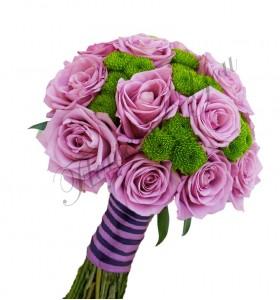 Buchet mireasa trandafiri santini