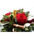 Aranjament craciun lumanare trandafiri scortisoara