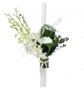 Lumanari nunta cale albe dendrobium
