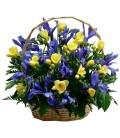 Aranjament floral frezii iris