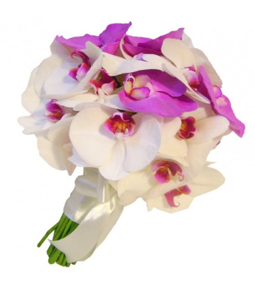 Buchet de mireasa orhidee phalaenopsis