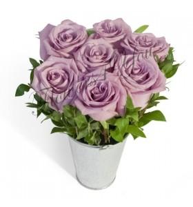 Aranjament 7 trandafiri mov