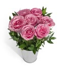 Aranjament 7 trandafiri roz