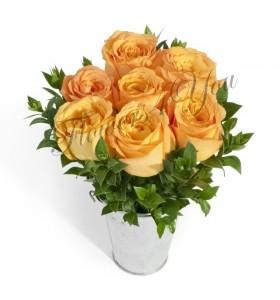 Aranjament trandafiri somon