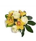 Aranjamente florale trandafiri orhidee