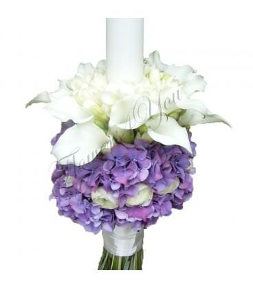 Lumanari nunta cale frezii hortensia  ranunculus
