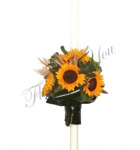 Lumanari nunta floarea soarelui  spice grau  santini
