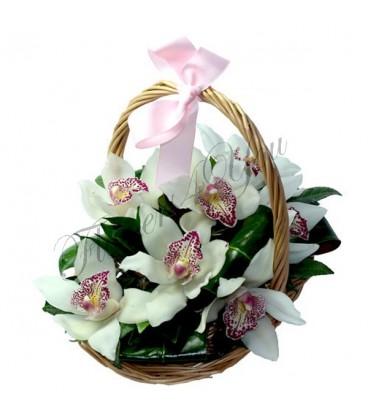 Aranjament cos orhidee