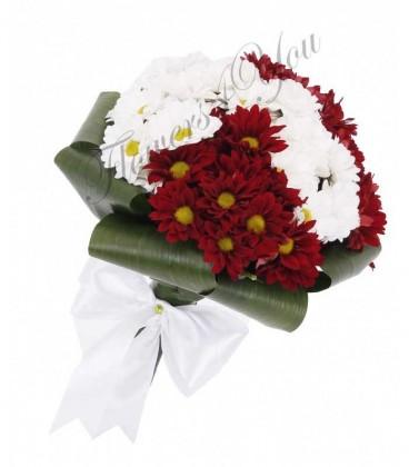 Buchet mireasa crizantema
