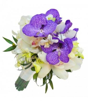 Buchet mireasa orhidee dendrobium vanda