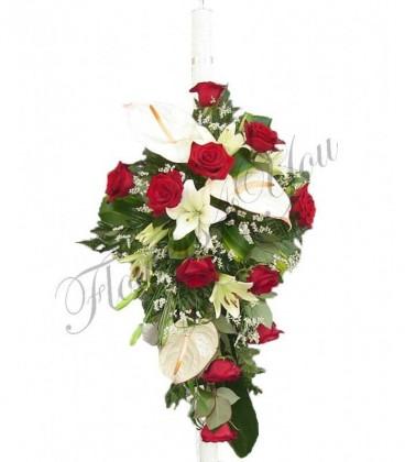 Lumanari nunta trandafiri anthurium crin