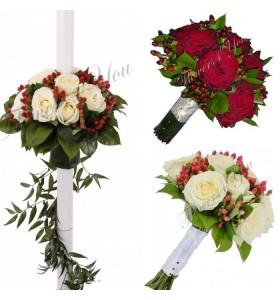 Pachet nunta trandafiri hipericum