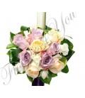 Lumanari nunta trandafiri