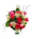 Lumanari nunta trandafiri orhidee
