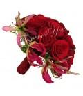 Buchet de mireasa trandafiri gloriosa