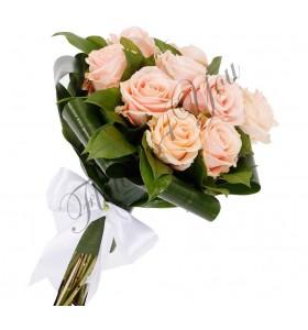 Buchete mireasa trandafiri roz