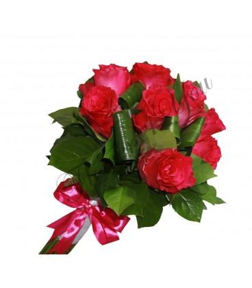 Buchete de mireasa trandafiri roz