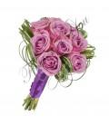 Buchete mireasa trandafiri mov