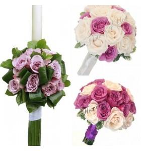 Pachete nunta trandafiri mov