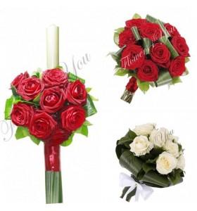Pachete nunta trandafiri grena