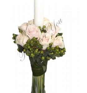 Lumanari nunta trandafiri hypericum