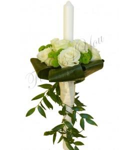 Lumanari de nunta trandafiri santini