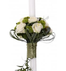 Lumanare nunta trandafiri santini