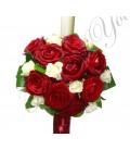 Lumanari nunta trandafiri grena miniroza