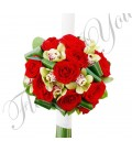 Lumanari nunta trandafiri grena orhidee