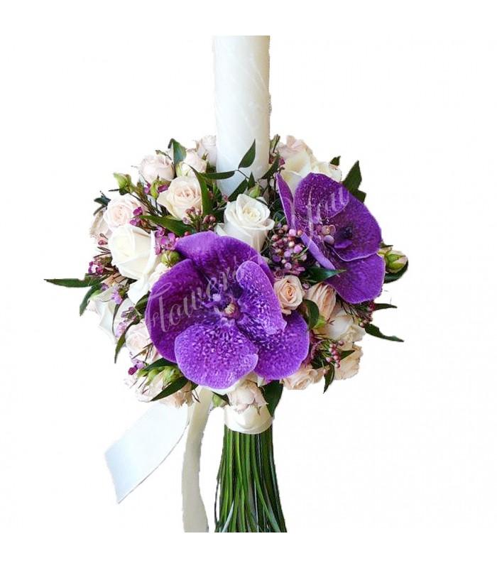 lumanare-nunta-miniroza-trandafiri-vax-flower