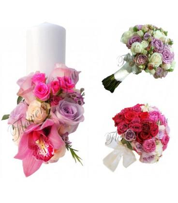 Lumanari-scurte-trandafiri-orhidee-Pachete