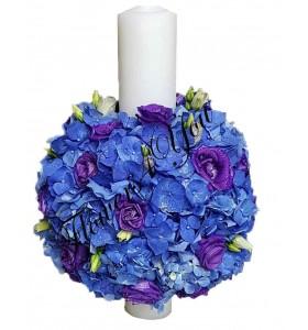 Lumanari nunta scurte hortensia albastra lisiantus
