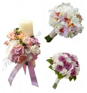 Pachete lumanari  buchete nunta hortensia
